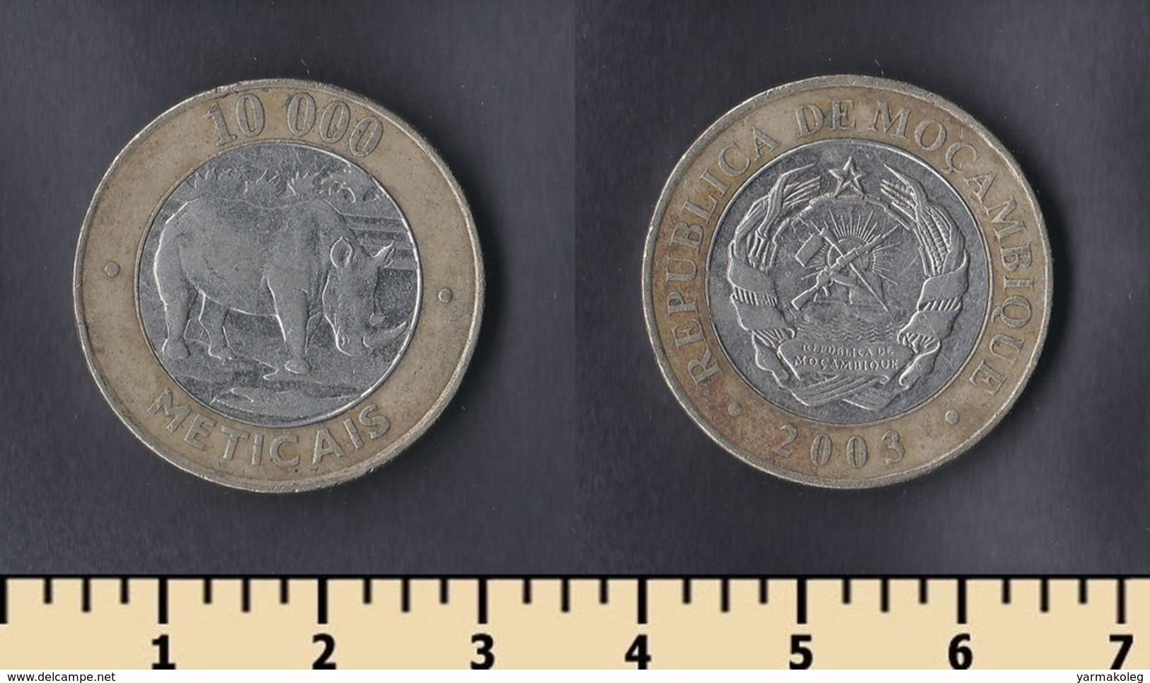 Mozambique 10000 Meticais 2003 - Mozambique