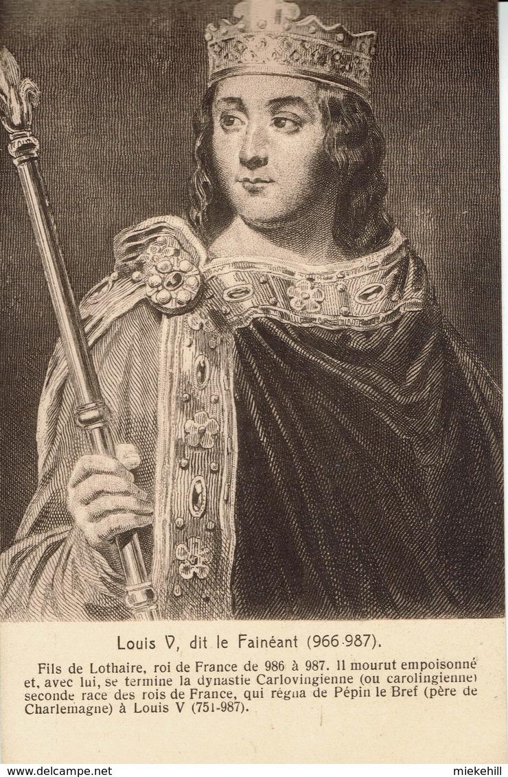 LOUIS V DIT LE FAINEANT -ROI DE FRANCE - Histoire