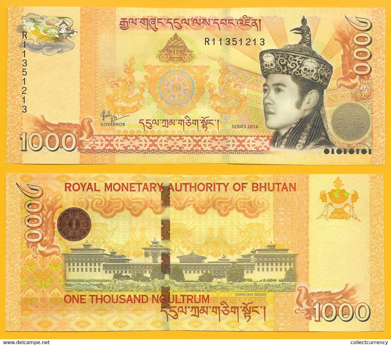Bhutan 1000 Ngultrum P-34b 2016 UNC Banknote - Bhoutan