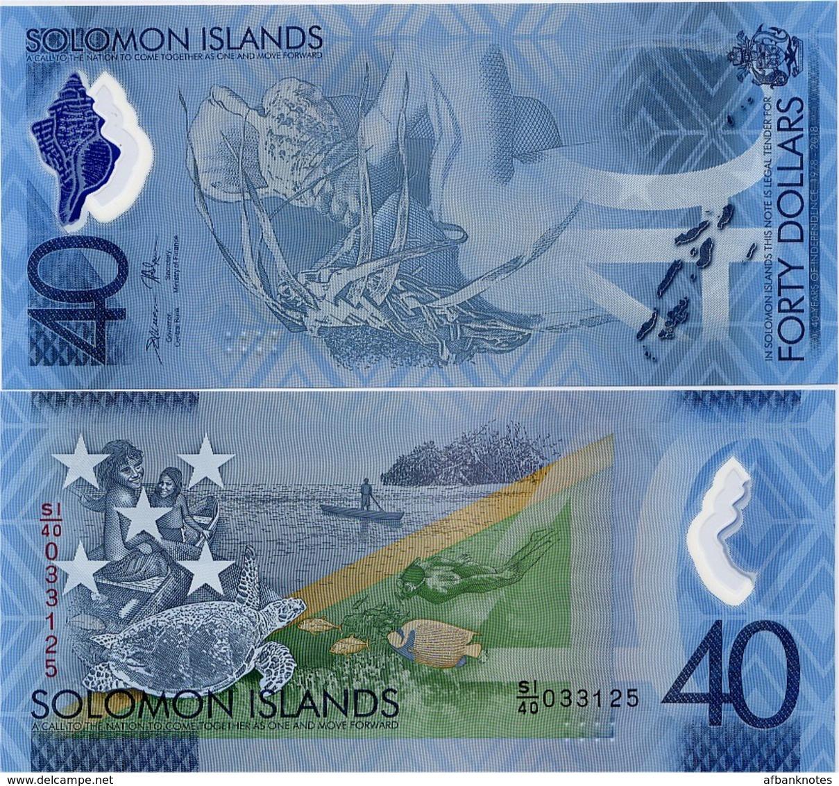 SOLOMON IS.        40 Dollars       Comm.     P-New       ND (2018)       UNC - Salomons