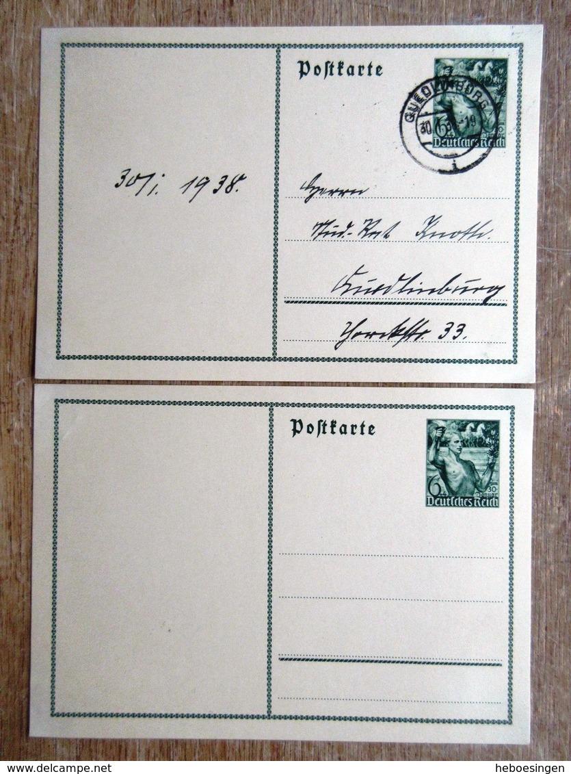 DR Ganzsachen 6 Pfg. Grün 30. Januar Ungebraucht/Stempel Quedlingburg - Ganzsachen