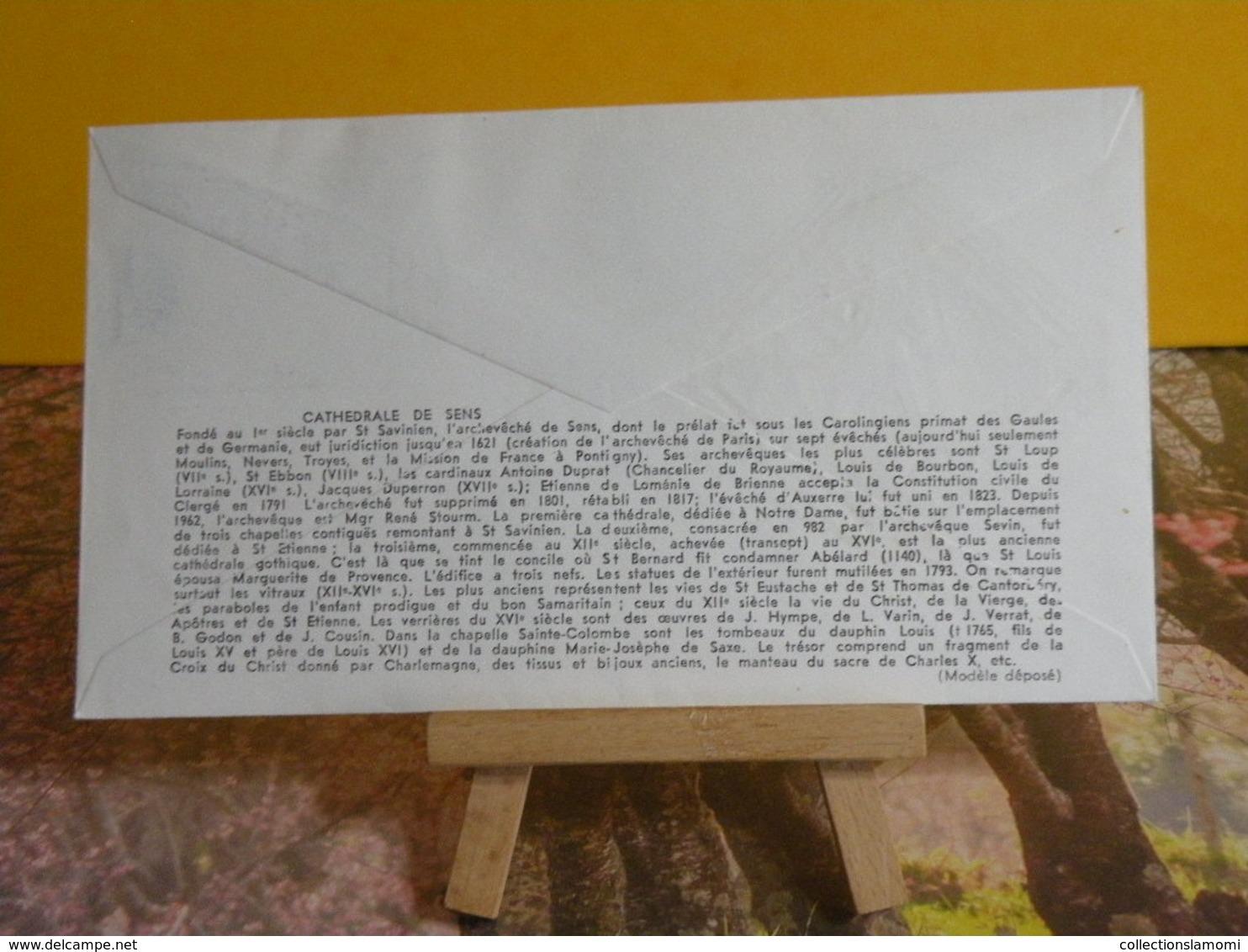 Cathédrale De Sens - 89 Sens - 5.6.1965 FDC 1er Jour N°535 - Coté 6€ - FDC