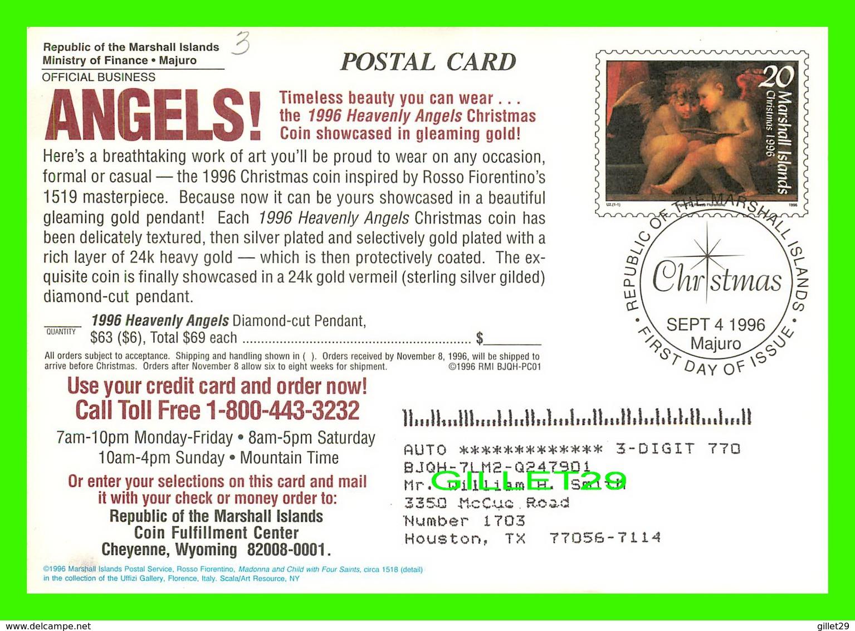 MARSHALL ISLANDS - 1996 HEAVENLY ANGELS CHRISTMAS - TRAVEL IN 1996 - - Marshall