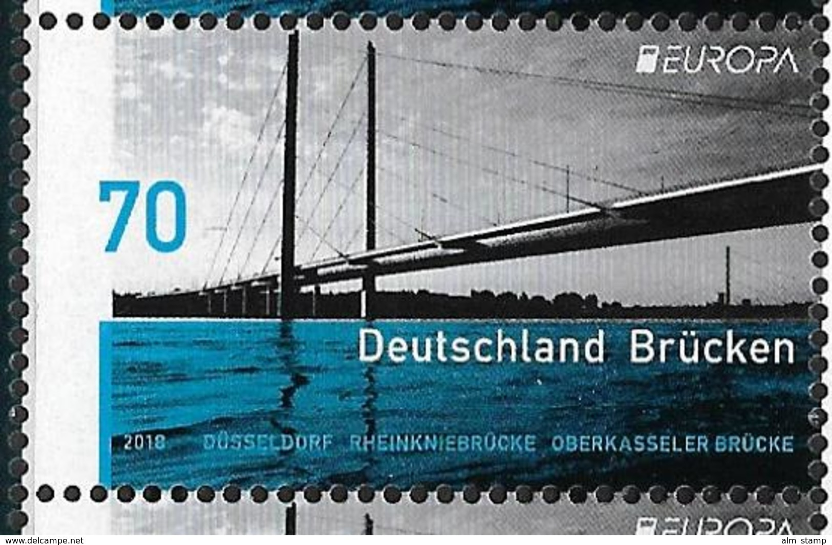 2018  Allem. Fed. Deutschland Mi. 3383**MNH   Europa : Bridges - 2018