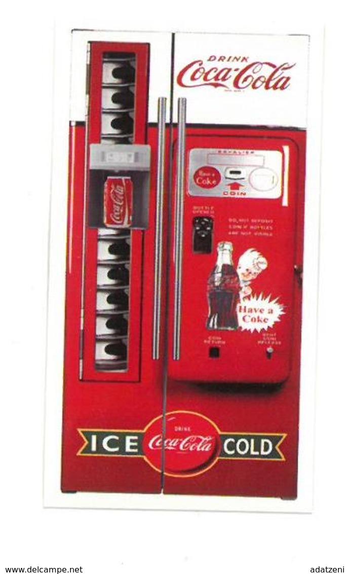 Adesivo Decalcomania Sticker Coca Cola Distributore Ice Cold Dimensioni Cm 7x4 Circa - Altri