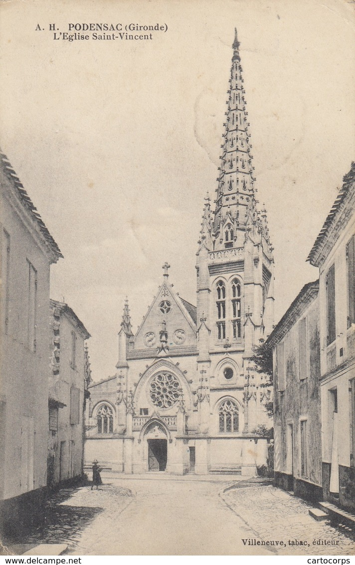 33 - Podensac - Eglise Saint-Vincent - France