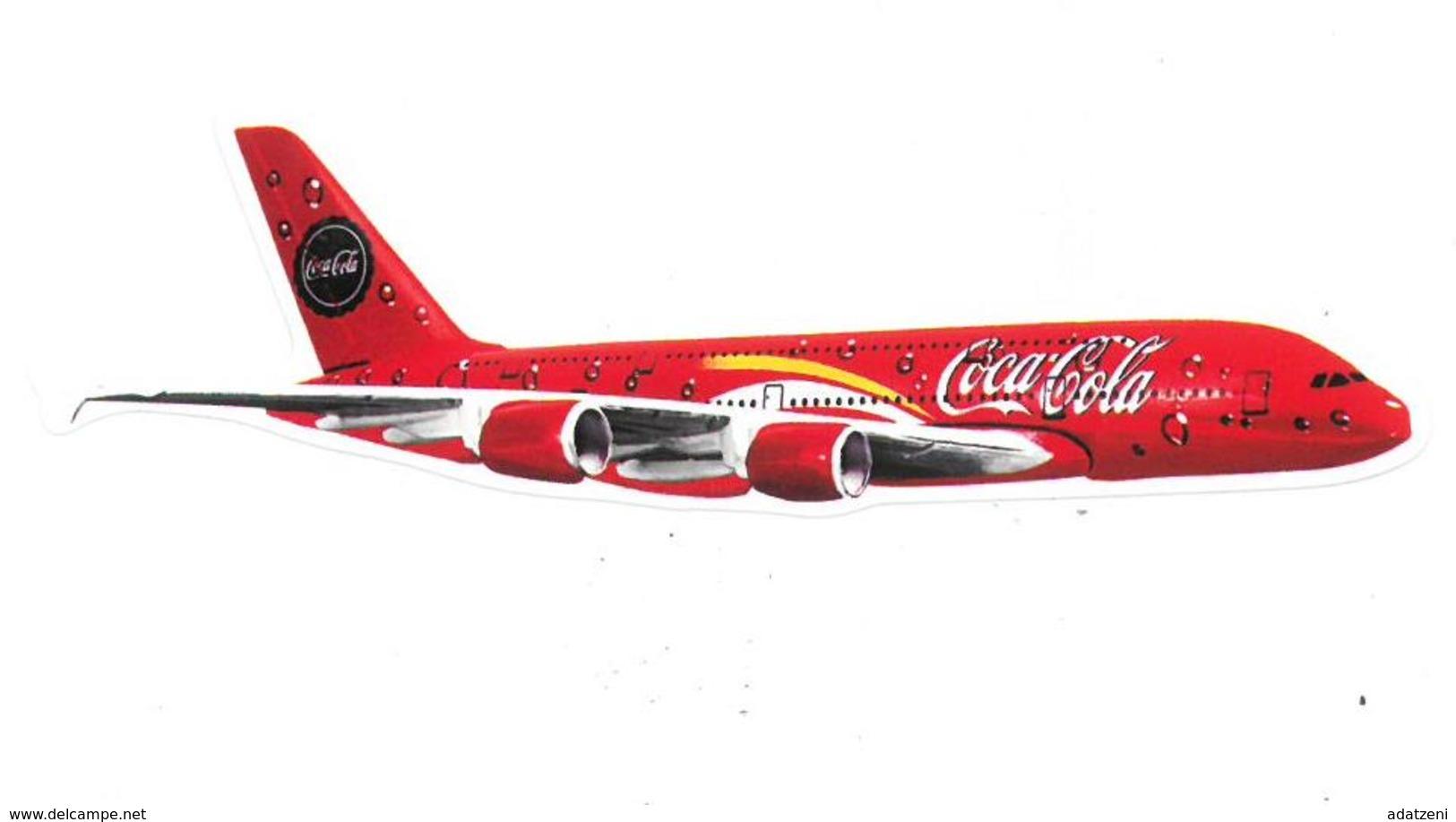 Adesivo Decalcomania Sticker Coca Cola Aereo  Dimensioni Cm 11x2 Circa - Adesivi