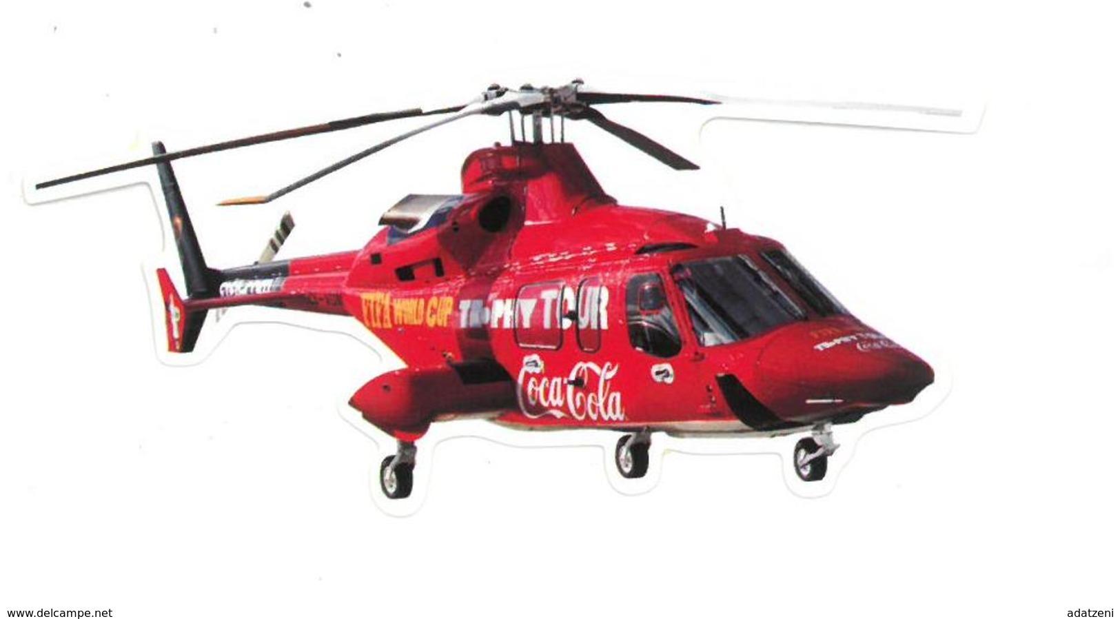 Adesivo Decalcomania Sticker Coca Cola Elicottero Fifa World Cup Trophy Tour Dimensioni Cm 10x4 Circa - Adesivi