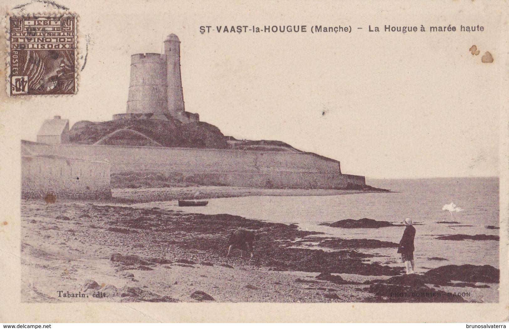 SAINT-VAAST LA HOUGUE - La Hougue à Marée Haute - Saint Vaast La Hougue