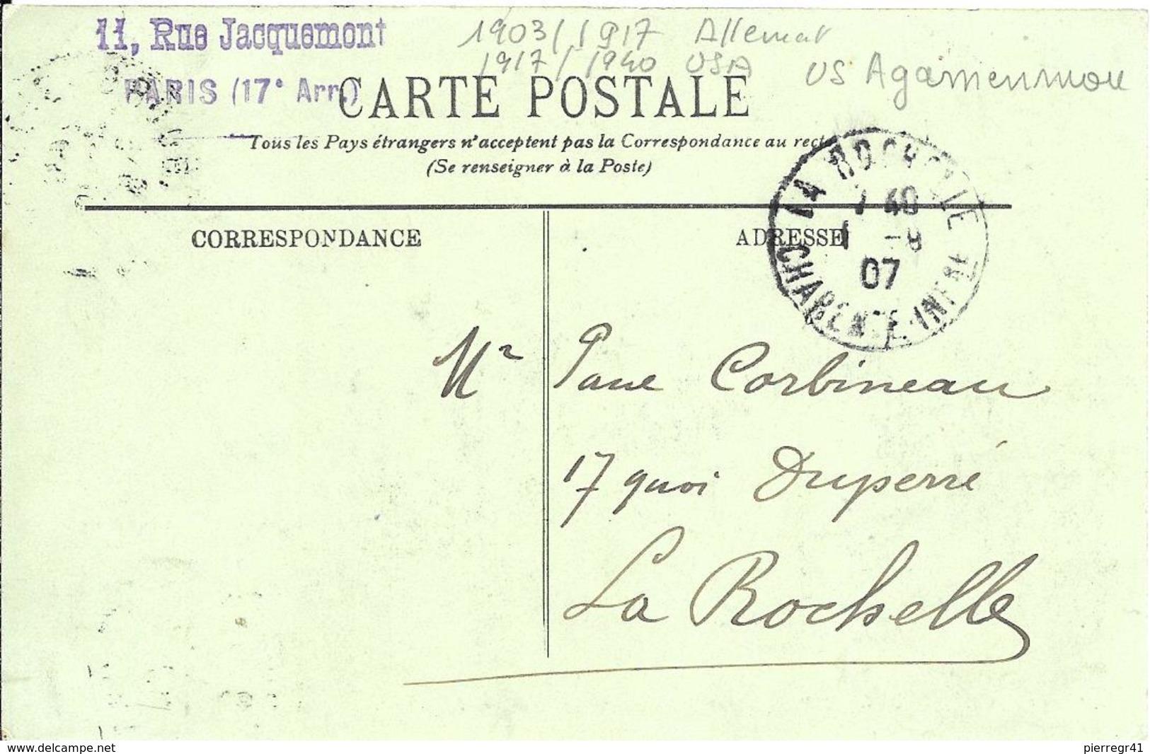 CPA-Cherbourg-Vers1905-PAQUEBOT-Allemand-KAISER WILHELM II-puis USA -US AGAMENMON 1940 Détruit-TBE - Paquebots