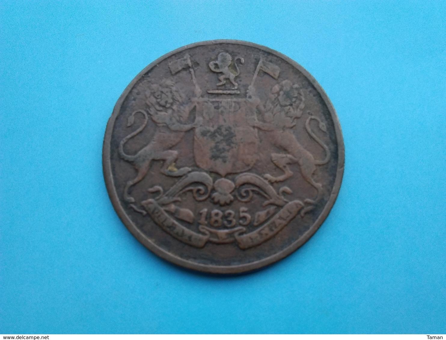 INDE   1/4  Anna   1835 - India