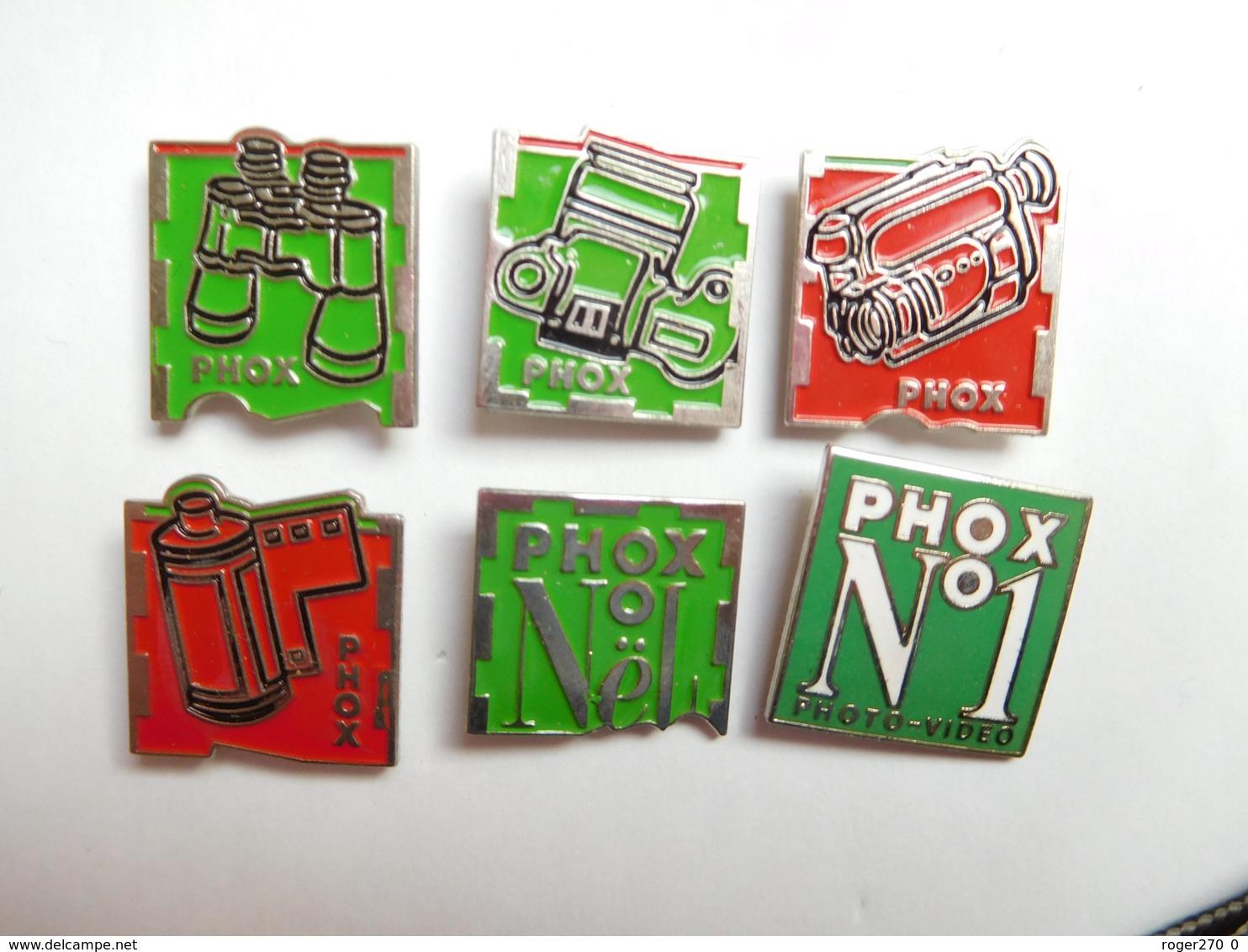 Belle Série De 6 Pin's Différents Dont 1 En EGF , Photo Phox , Photographie - Fotografie