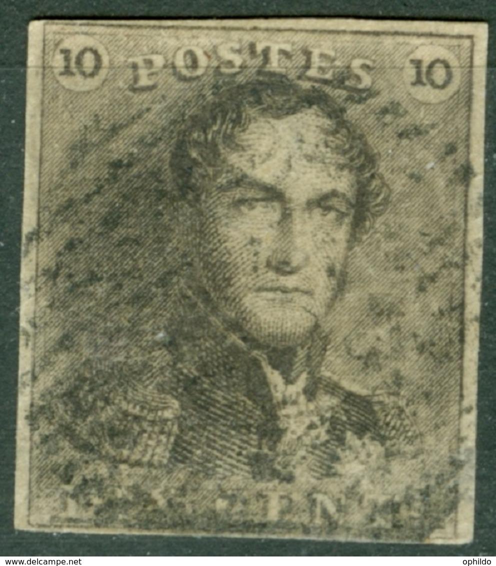 Belgique   1  Ob  TB Signé Alberto Diena - 1849 Hombreras
