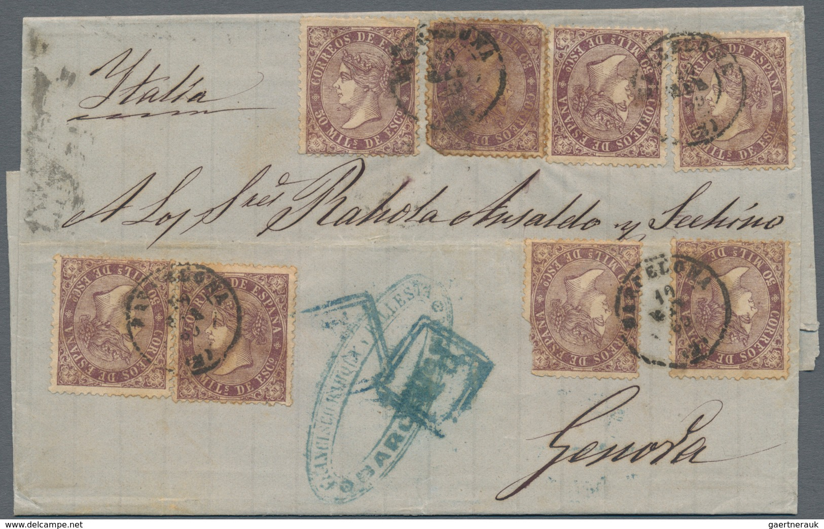 Spanien: 1868/1975 (ca.), Sophisticated Lot Of Ca. 110 Covers Sent From Different Spanish Locations, - Spain