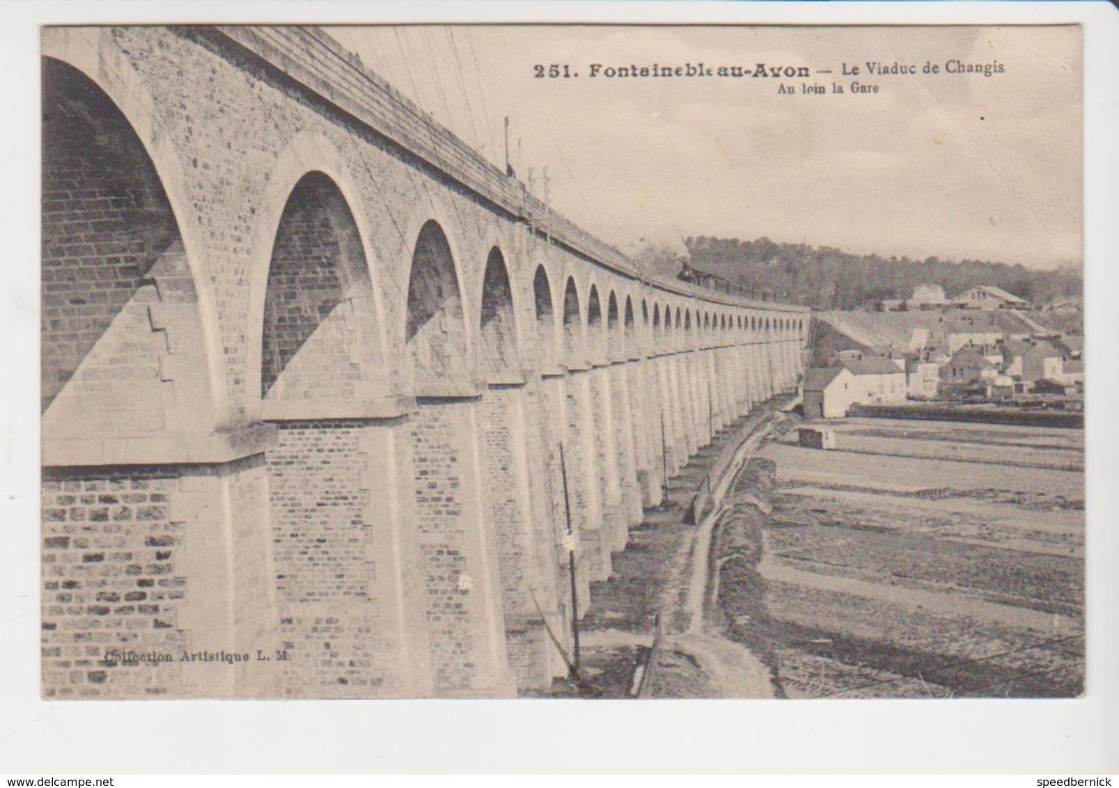 26769 Fontainebleau Sur Avon Viaduc Changis France Pont Chemins Fer -251 L.M.  Au Loin Gare -redon Hubert - Ouvrages D'Art