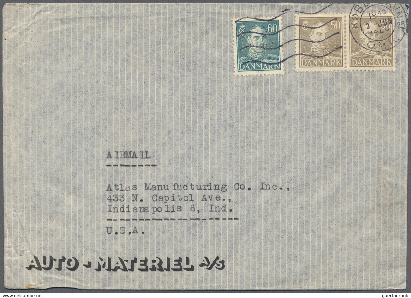Dänemark: 1890 (ab), Dabei Interessante Ganzsachen, Flugpost, Alte Ansichtskarten, Perfins U. A. - 1851-63 (Frederik VII)
