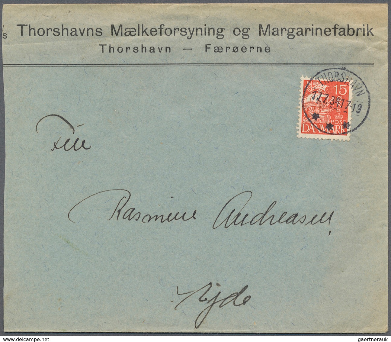 Dänemark: 1915 (ab), Kleiner Posten Von 68 Belegen, Teils Mit Besonderheiten Wie Flugpost, Färöer Un - 1851-63 (Frederik VII)
