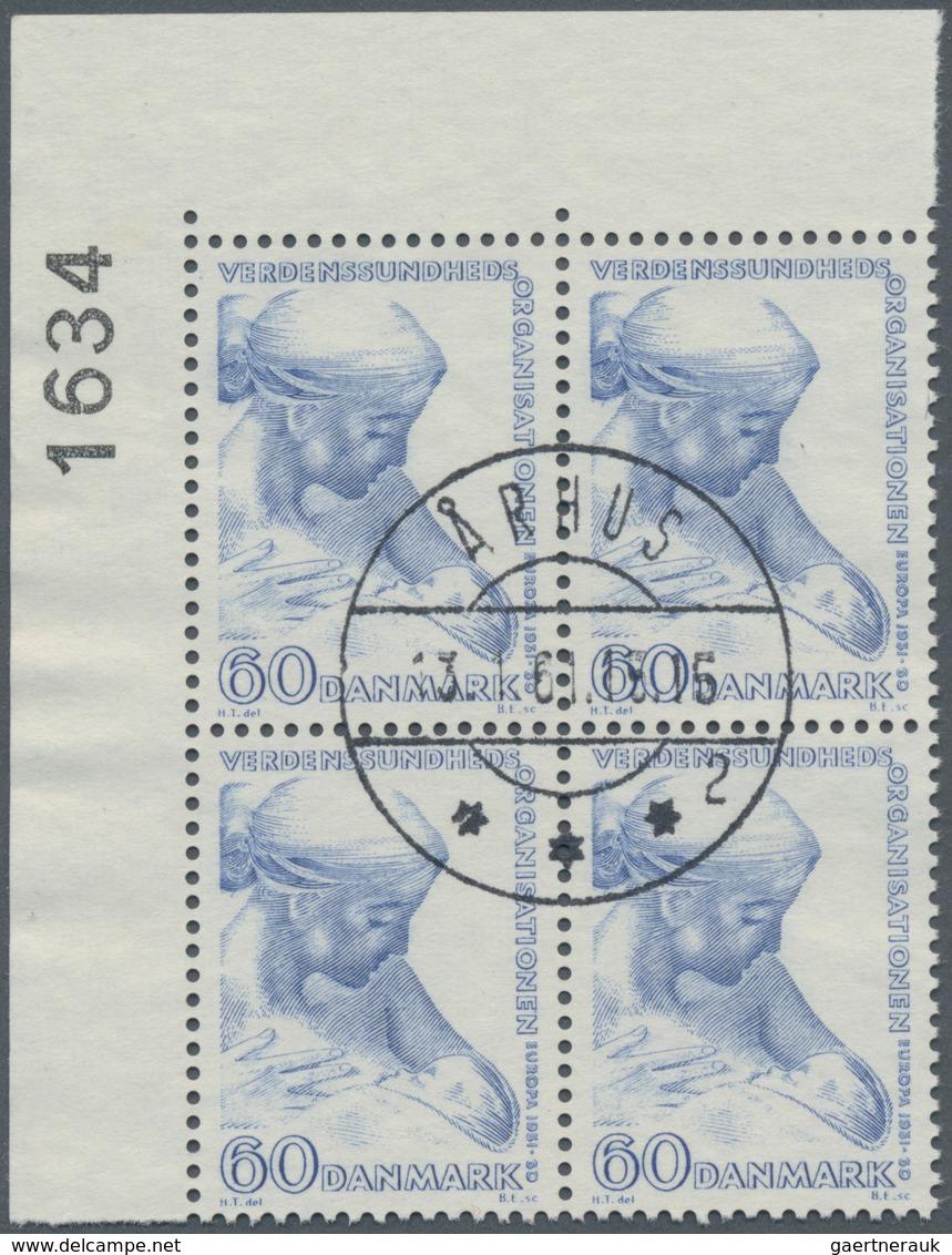 Dänemark: 1960, World Health Organization (WHO) 60öre Ultramarine (nursing Mother) In A Lot With 1.4 - 1851-63 (Frederik VII)