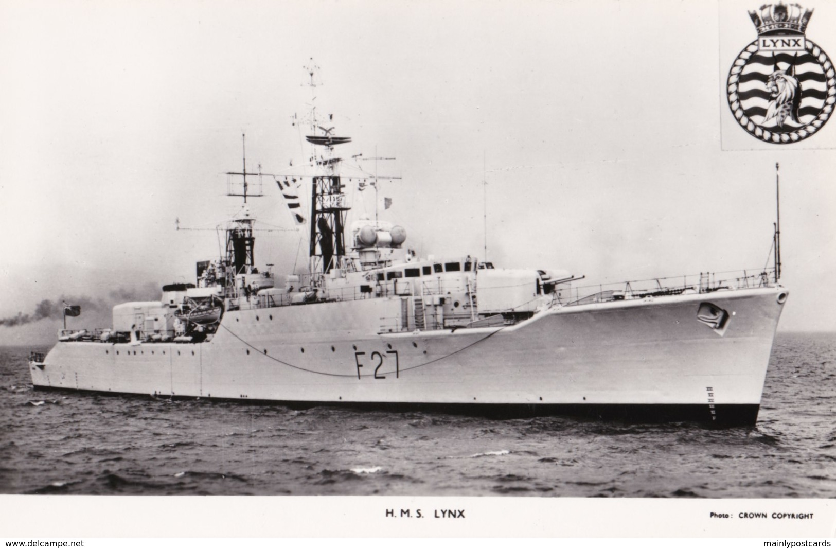 AM25 Military Shipping - H.M.S. Lynx - Gale & Polden RPPC - Warships