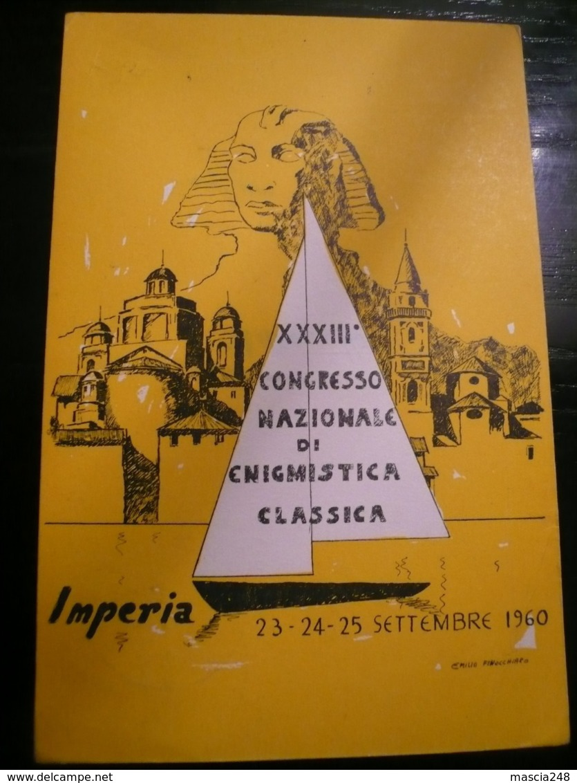Enigmistica IMPERIA 33°Convegno 1960 Rara Usata Annullo Manifestazione - Giochi