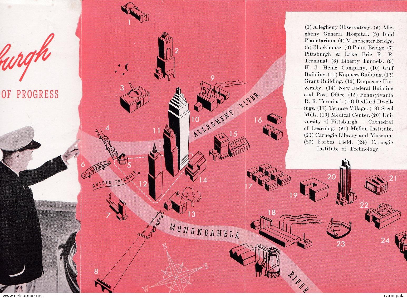 Vers 1920 Pittsburgh City Of Progress :the Gulf Building : Visit , Promenade - Pittsburgh