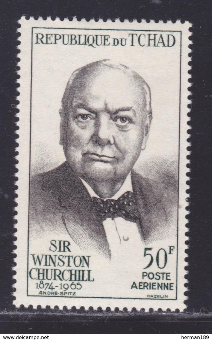 TCHAD AERIENS N°   27 ** MNH Neuf Sans Charnière, TB (D8470) Mort De Sir Winston Churchill -1965 - Chad (1960-...)