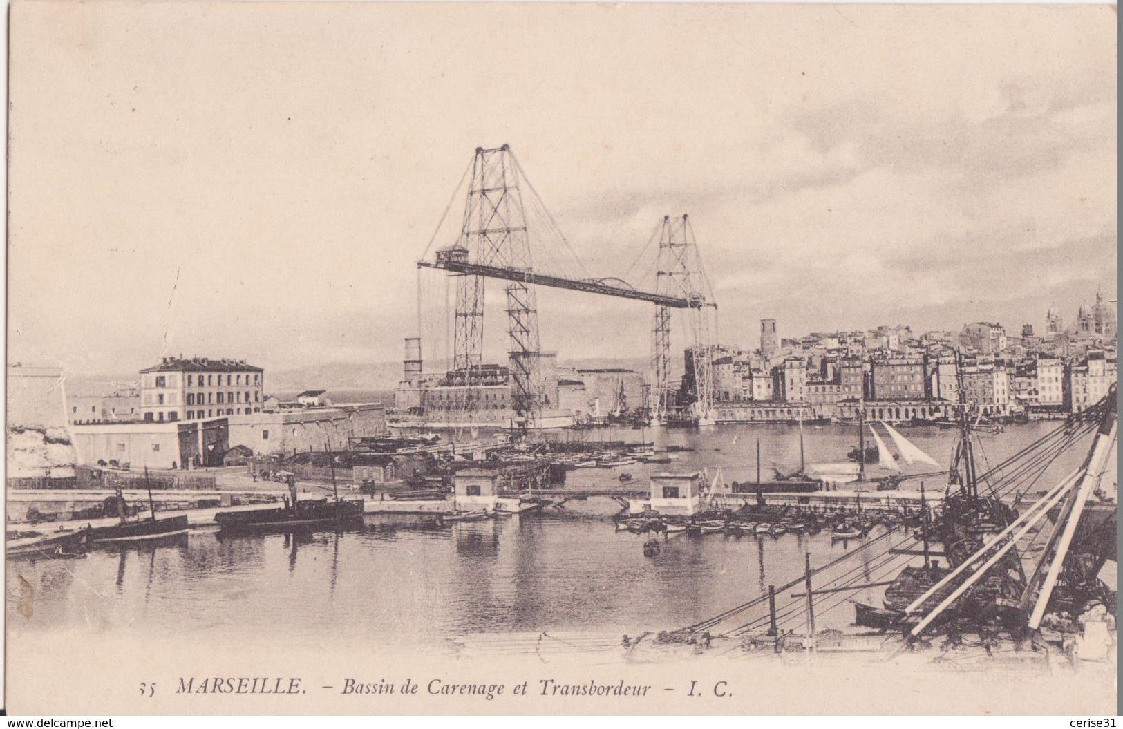 CPA - 35 - MARSEILLE -  Bassin De Carenage Et Transbordeur - Vieux Port, Saint Victor, Le Panier