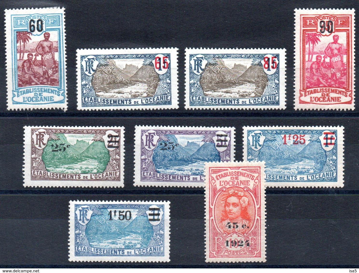 OCEANIE - YT N° 57 à 65 - Neufs * - MH - Cote: 33,50 € - Oceania (1892-1958)