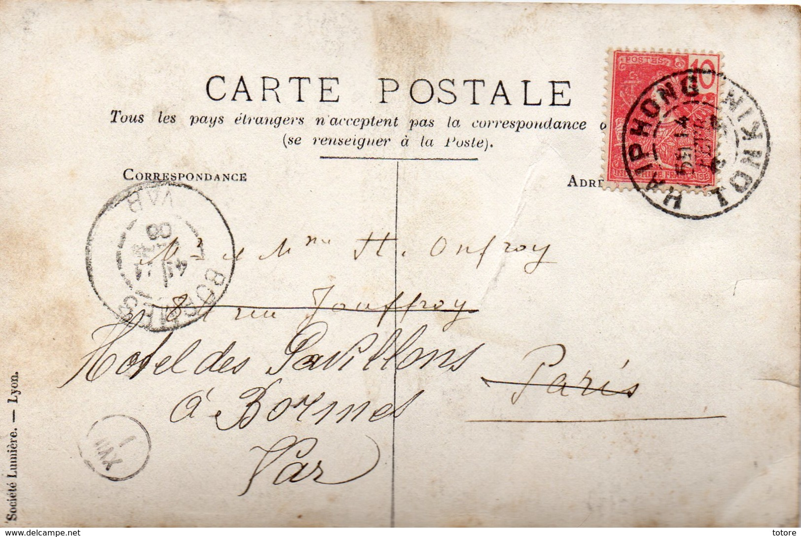 Carte Du  TONKIN - Cartes Postales