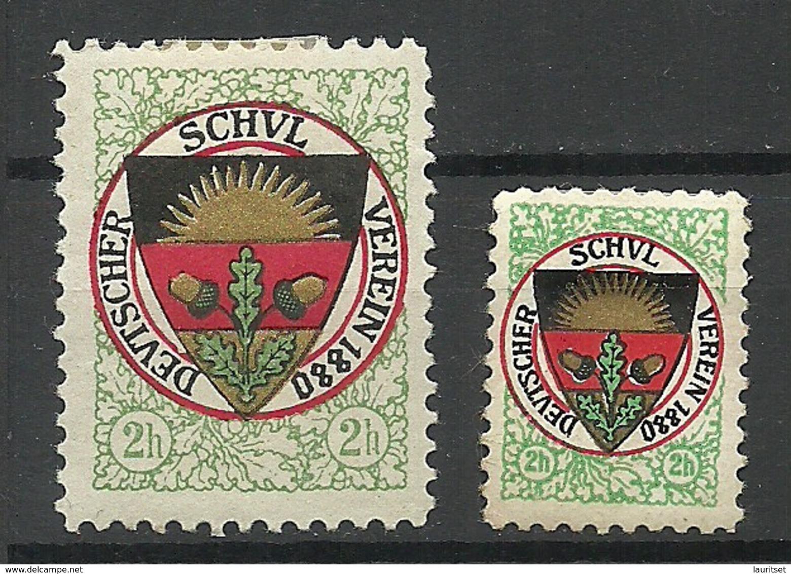 Deutschland 1880 Vignetten Werbung Propaganda Deutscher Schulverein * - Cinderellas
