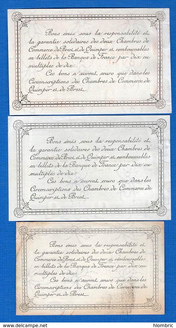 Quimper  Et  Brest  3  Billets - Maurice
