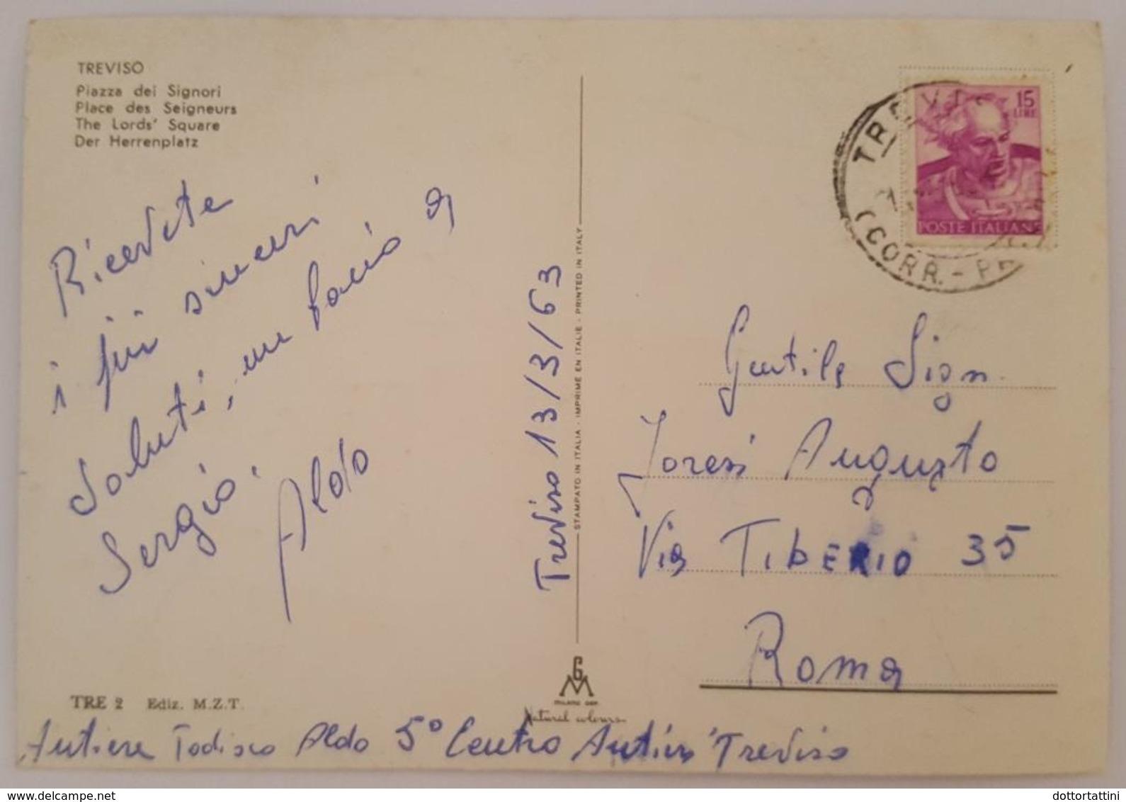TREVISO - Piazza Dei Signori - Animata Vg 1963   V2 - Treviso