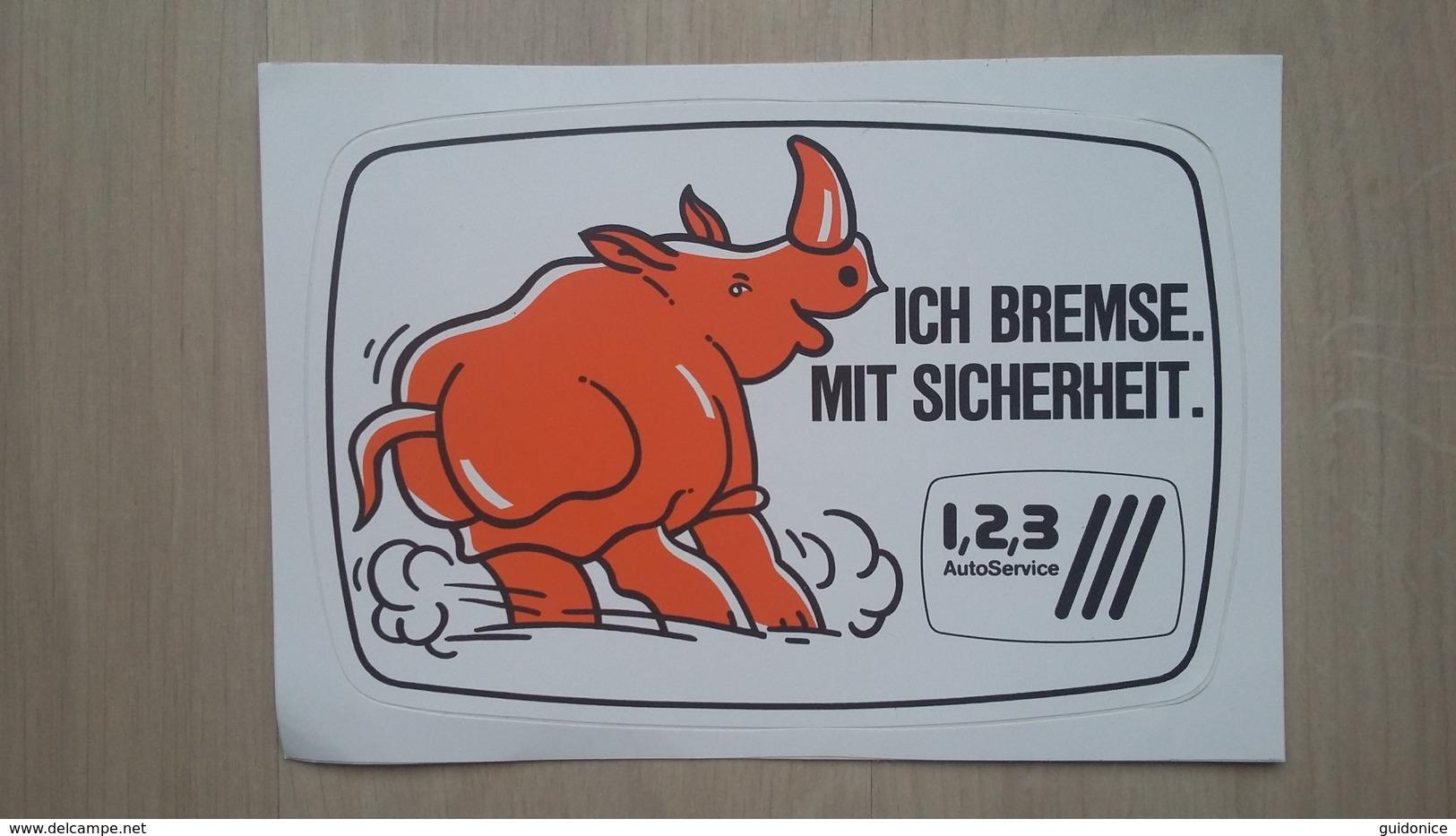 Aufkleber Mit Werbung Für Ein Auto-Service-Unternehmen (Deutschland) - Aufkleber