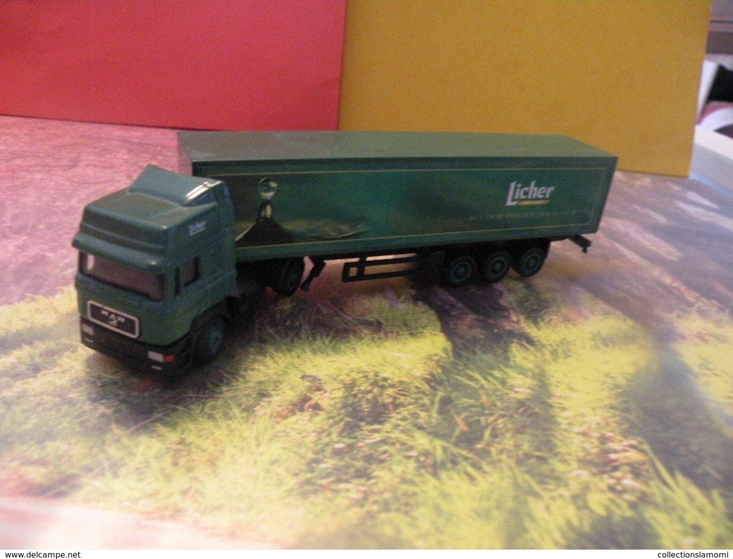 Camion MAN - Licher - 1/87  Sans Boite - Voitures, Camions, Bus