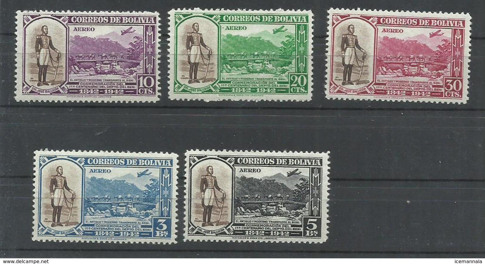 BOLIVIA YVERT AEREO   63/67  MNH  ** - Bolivia