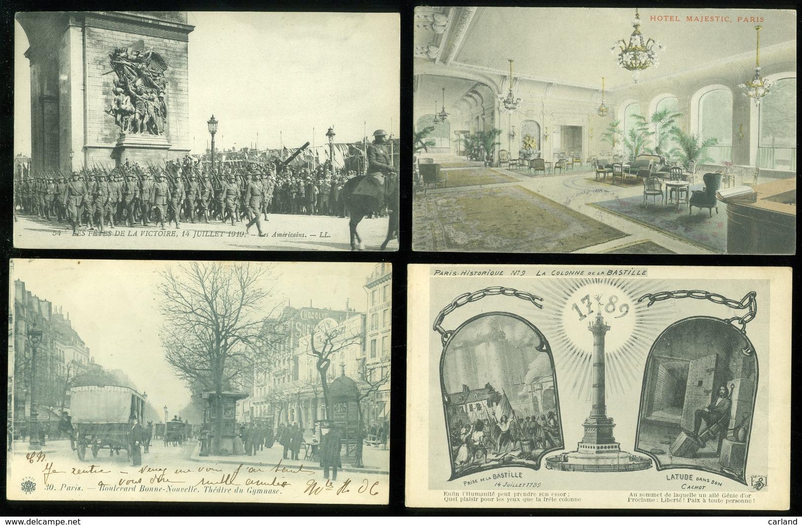 Beau Lot De 60 Cartes Postales De France  Paris   Mooi Lot Van 60 Postkaarten Van Frankrijk  Parijs  - 60 Scans - 5 - 99 Cartes