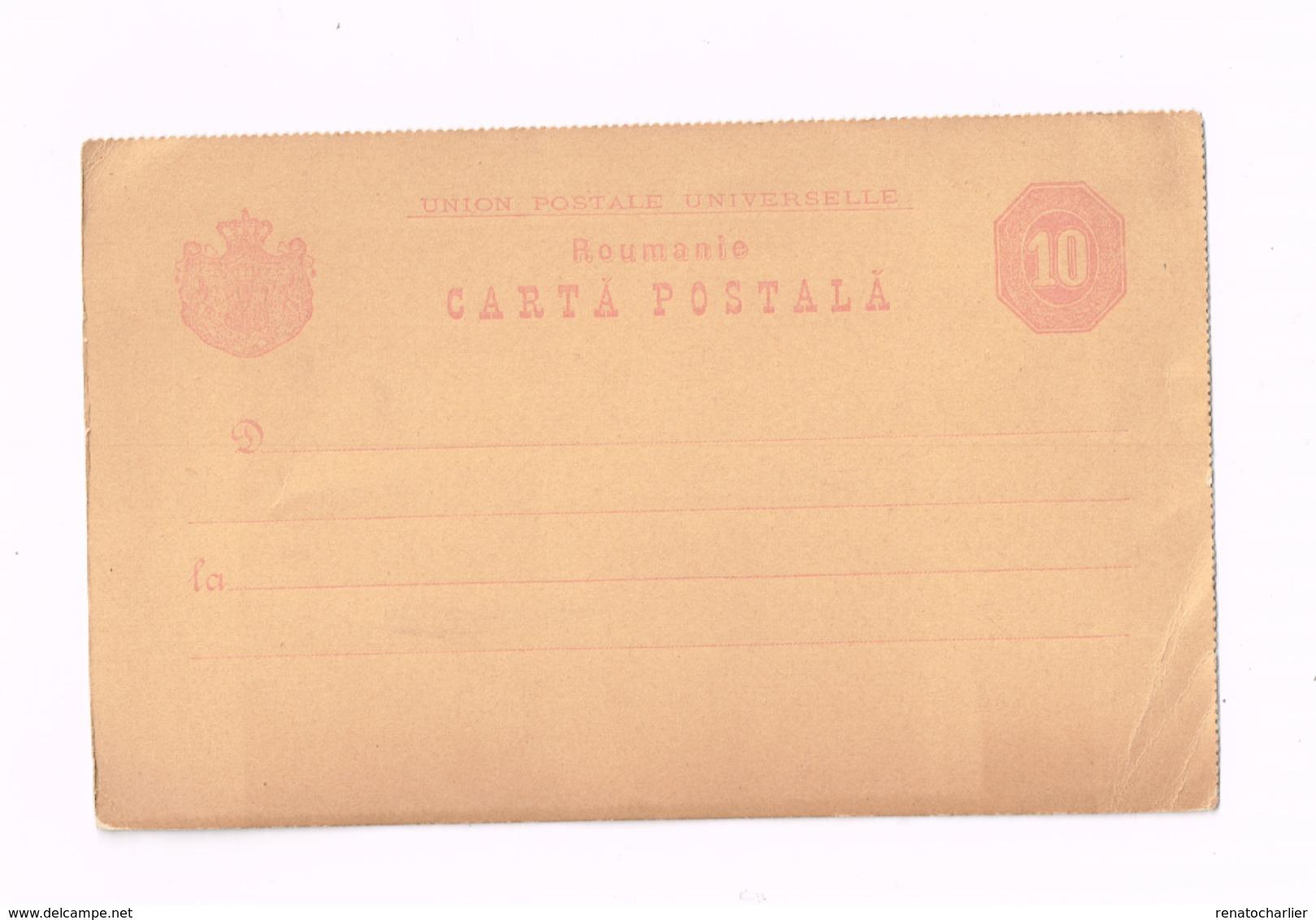 Entier Postal à 10 . - Postwaardestukken