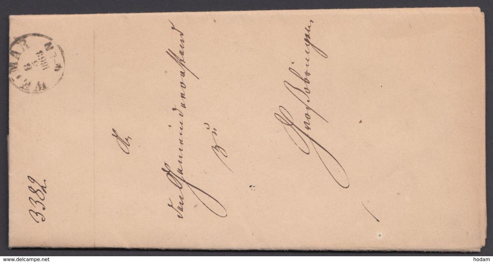 """""""Weimar"""", Dienstbrief Mit K 1, 1863 - Thurn Und Taxis"""