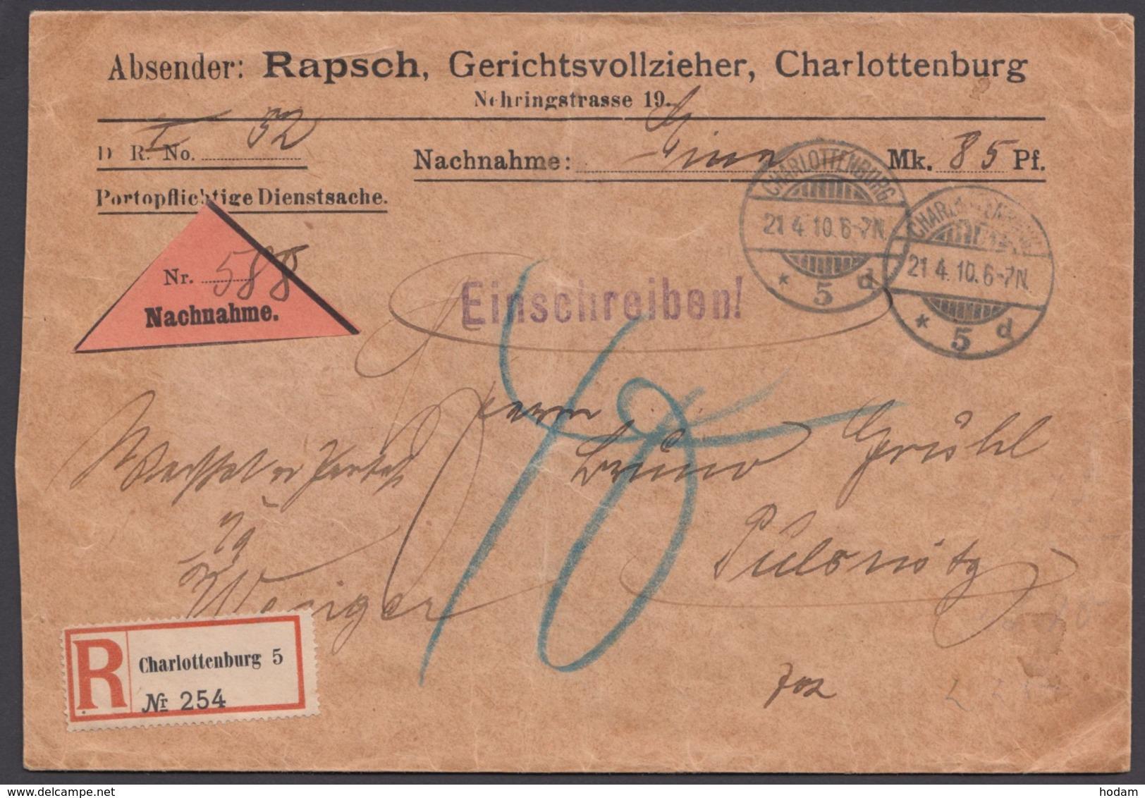 """R-NN-Brief """"Berlin"""", 21.4.10, Nachgebühr! - Deutschland"""