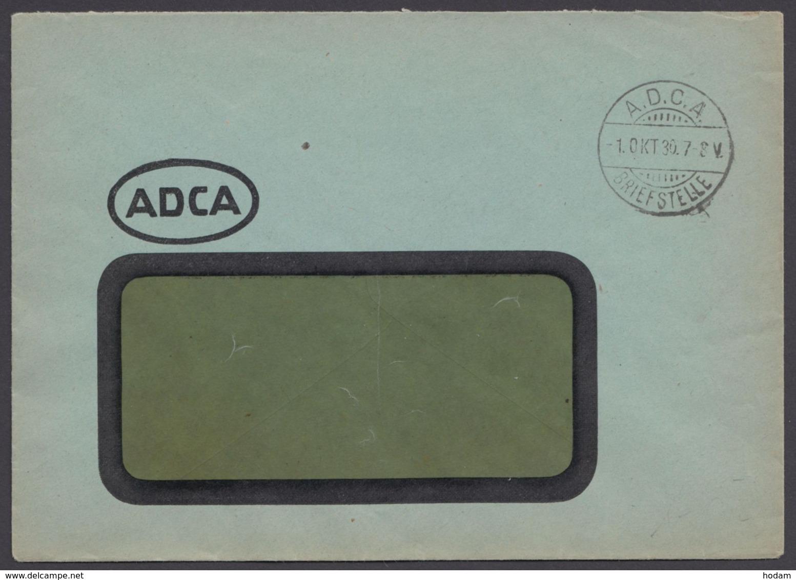 "Firmenbrief, Stempel ""A.D.C.A, Briefstelle"", 1.10.30 - Deutschland"