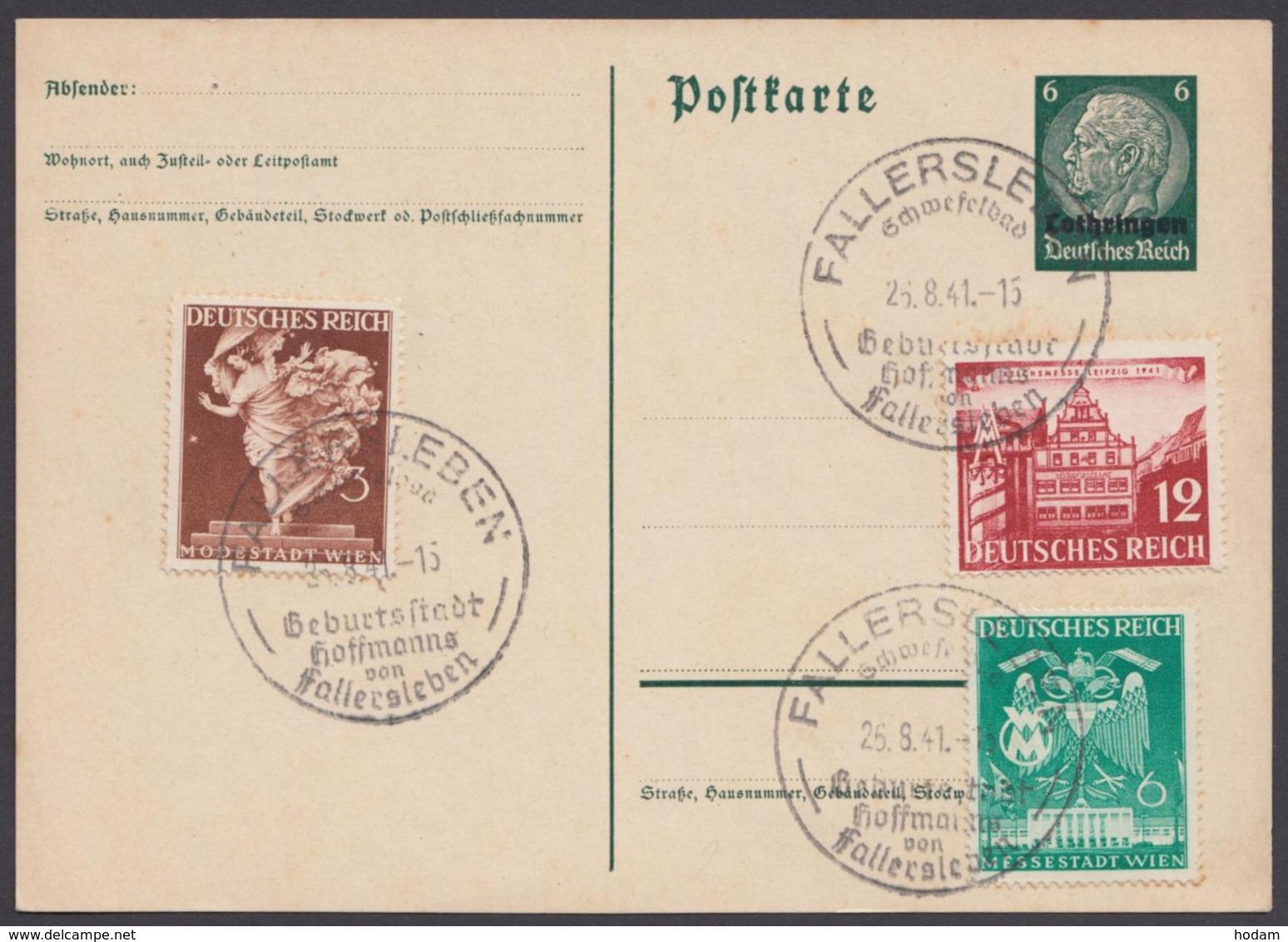 """766, 768/9 Auf P 2 """"Lothringen"""", Sst """"Fallersleben"""" - Deutschland"""