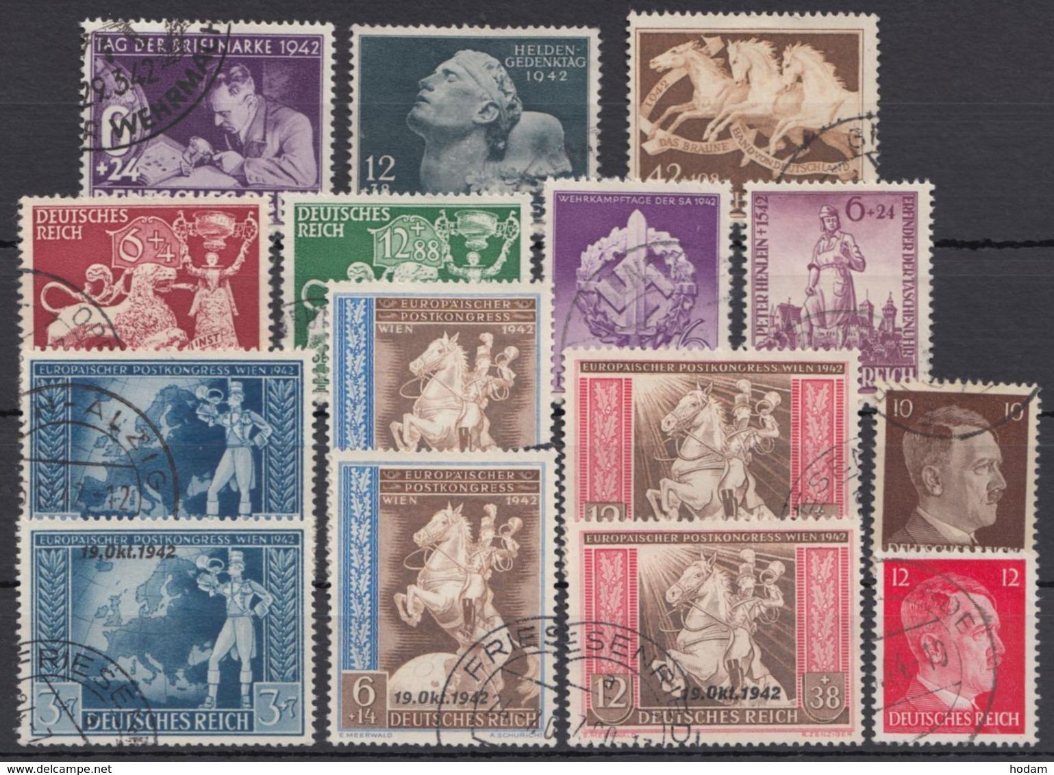Aus 811/27, 9 Komplette Ausgaben Aus 1942, Gestempelt - Deutschland
