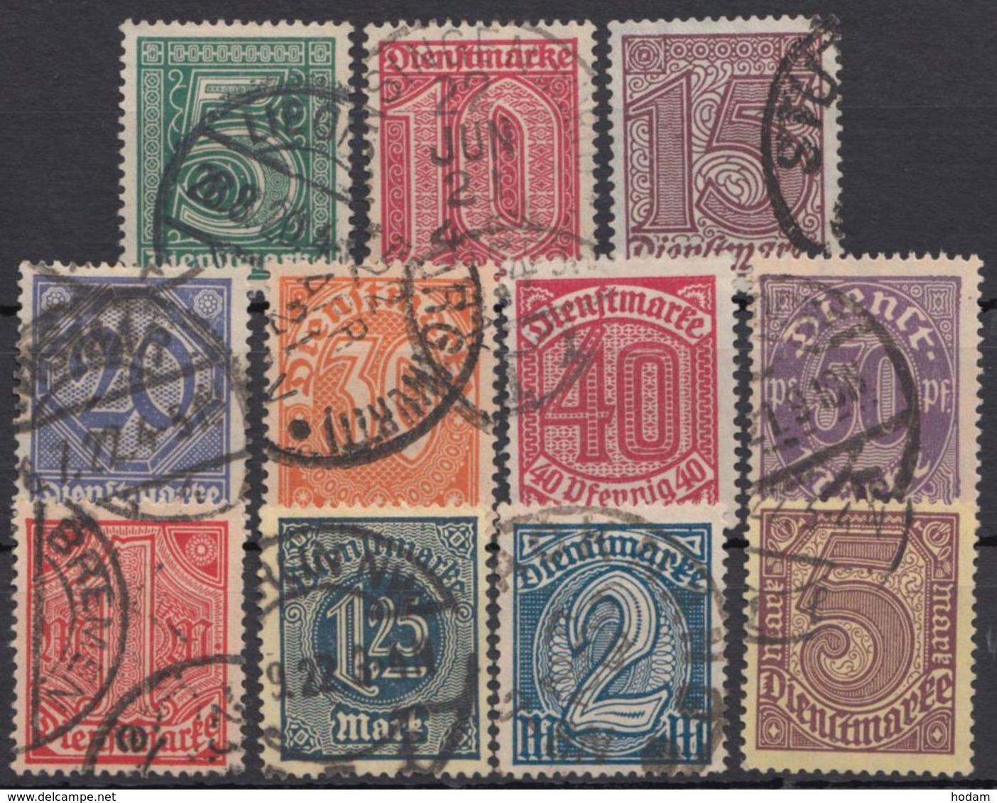 """23/33, """"Ziffern"""", 1920, Bedarfssatz - Dienstpost"""