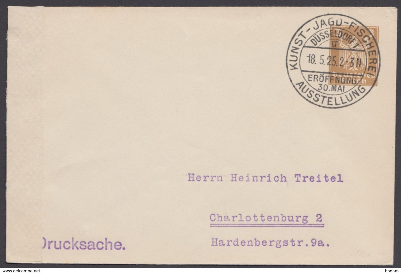 """PU 99 A 1 , Sst. """"Düsseldorf, Jagd- Und Fischereiausstellung"""", 18.5.25 - Deutschland"""