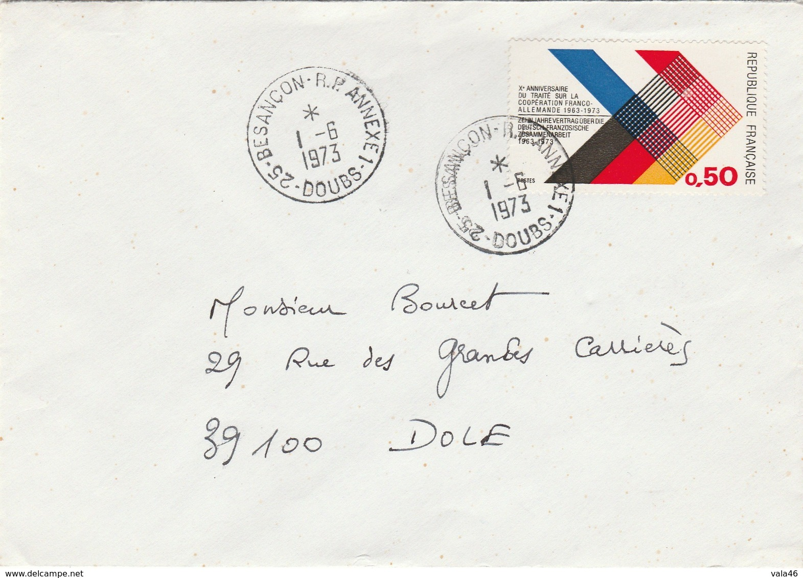BESANCON  25 DOUBS  CACHET BESANCON RP  ANNEXE 1 - Postmark Collection (Covers)