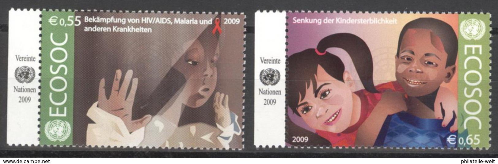 UNO Wien 605/06 Seitenrand ** Postfrisch - Wien - Internationales Zentrum