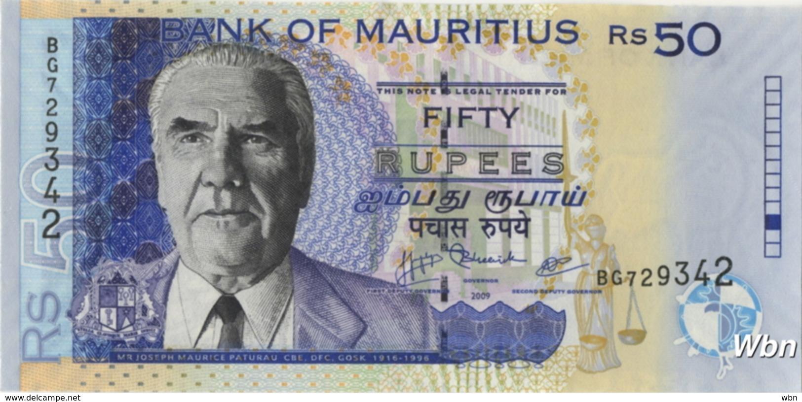Mauritius 50 Rupees (P50e) 2009 -UNC- - Maurice