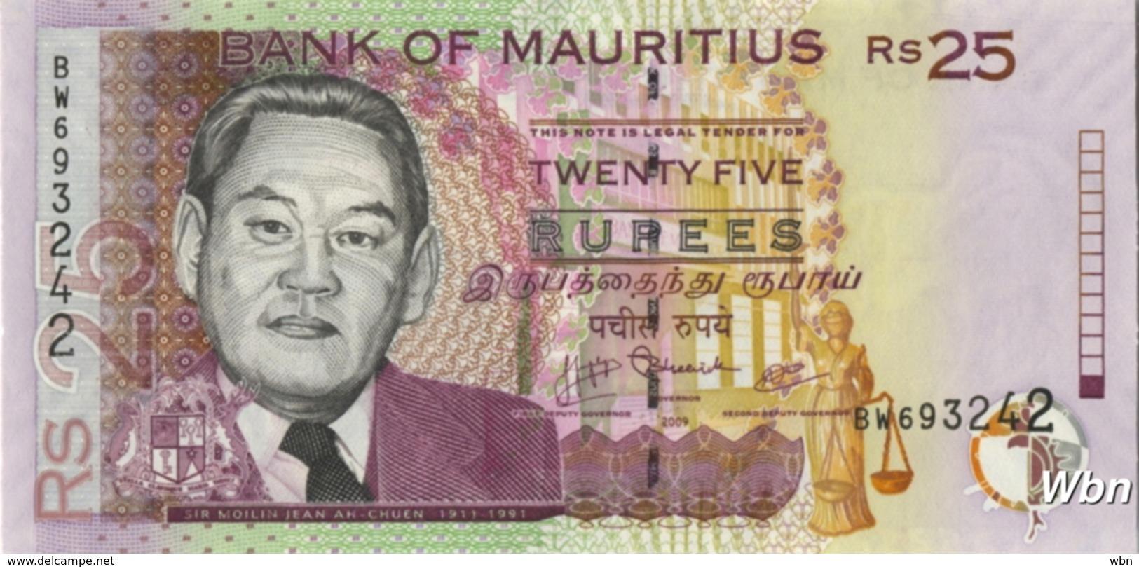 Mauritius 25 Rupees (P49d) 2009 -UNC- - Maurice