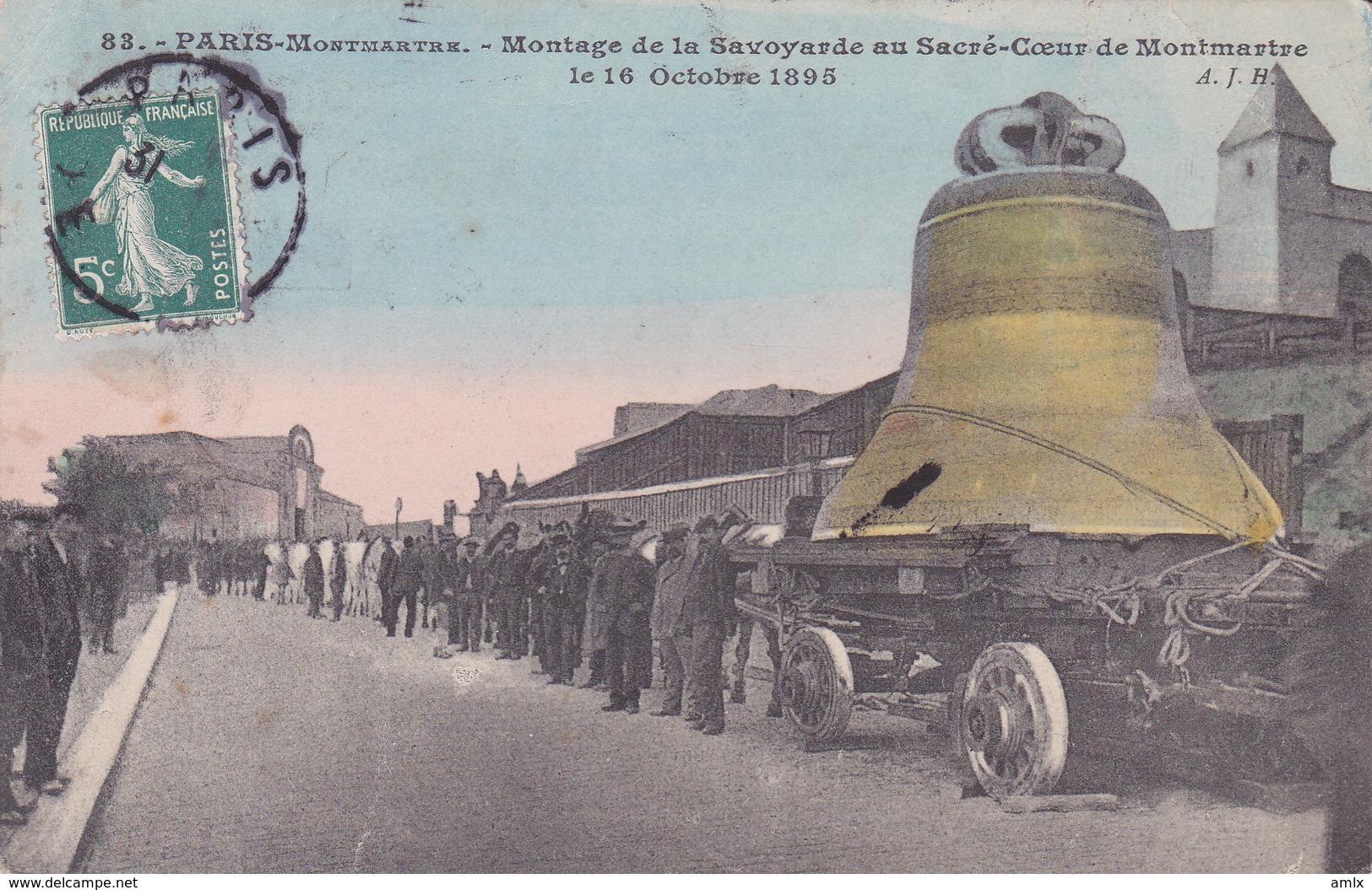 75. Montmartre. Montage De La Savoyarde. TBE - Sacré Coeur