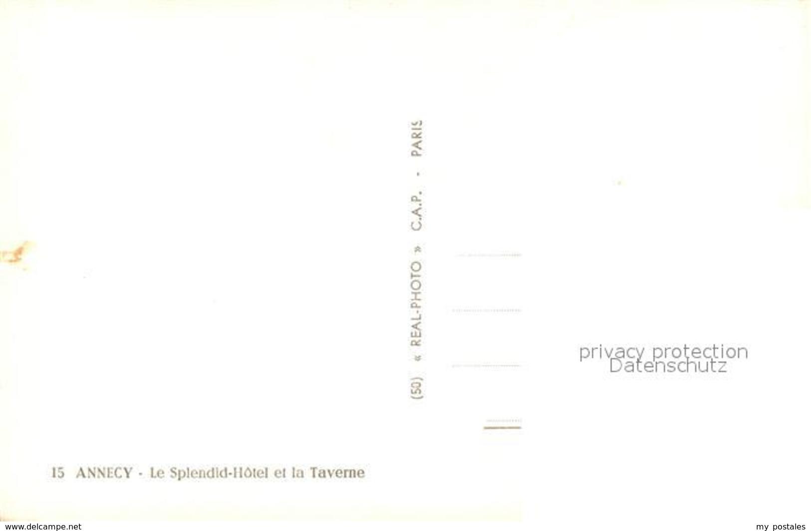 13484824 Annecy_Haute-Savoie Le Splendid Hotel Et La Taverne Annecy Haute-Savoie - Non Classés